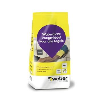 Weber waterdicht voegmortel antraciet 4kg