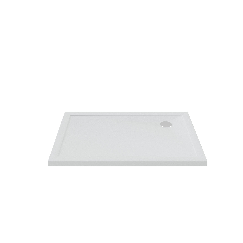 BRUYNZEEL douchebak 110 x 90 x 4 cm. WIT (211045)