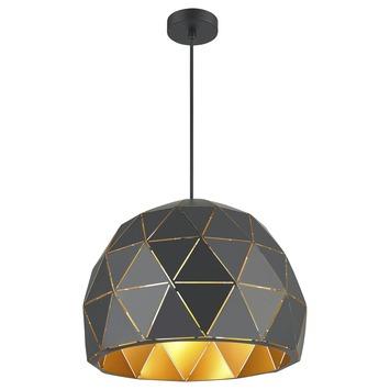 Hanglamp Niels metaal zwart/goud
