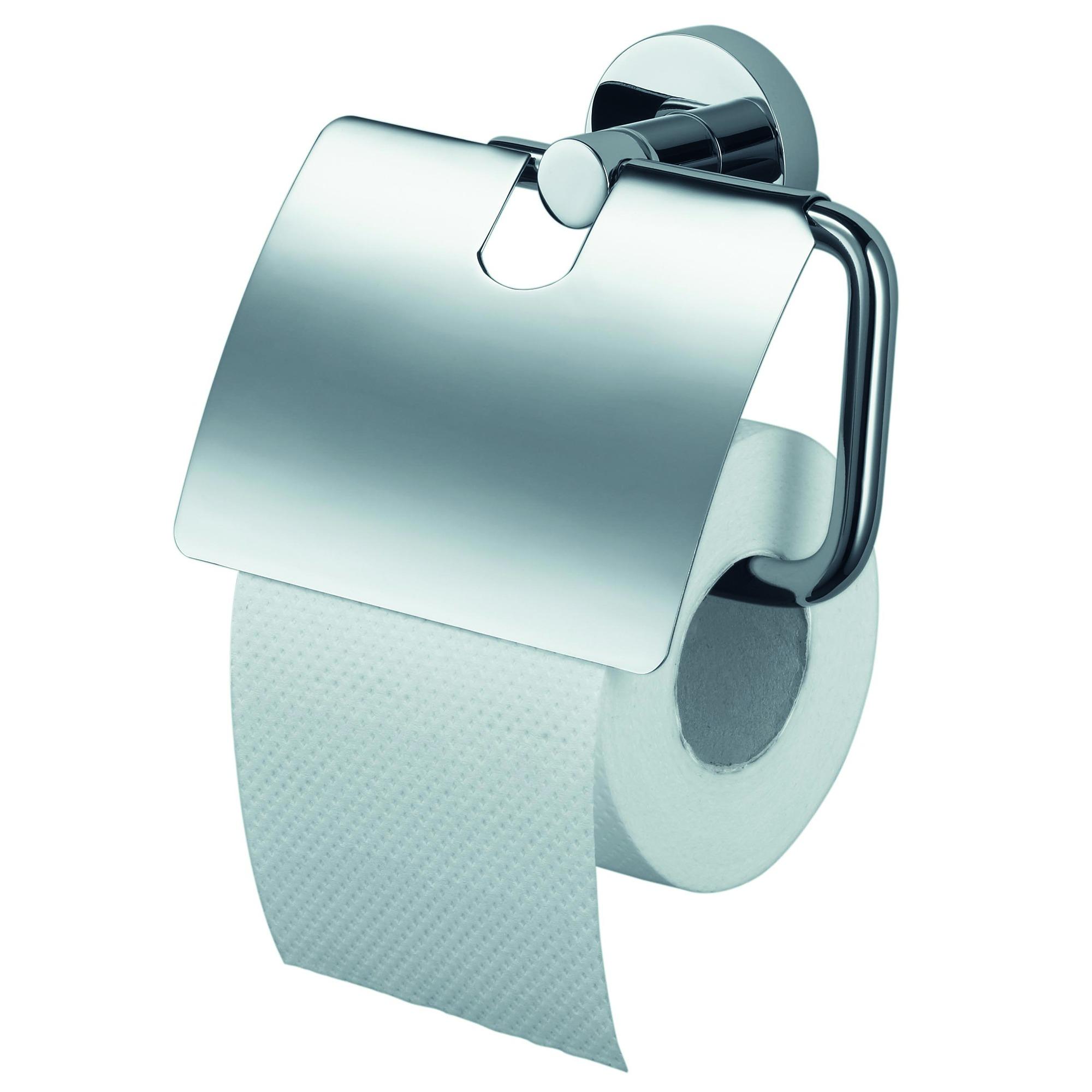 Haceka Kosmos chroom toiletrolhouder met klep