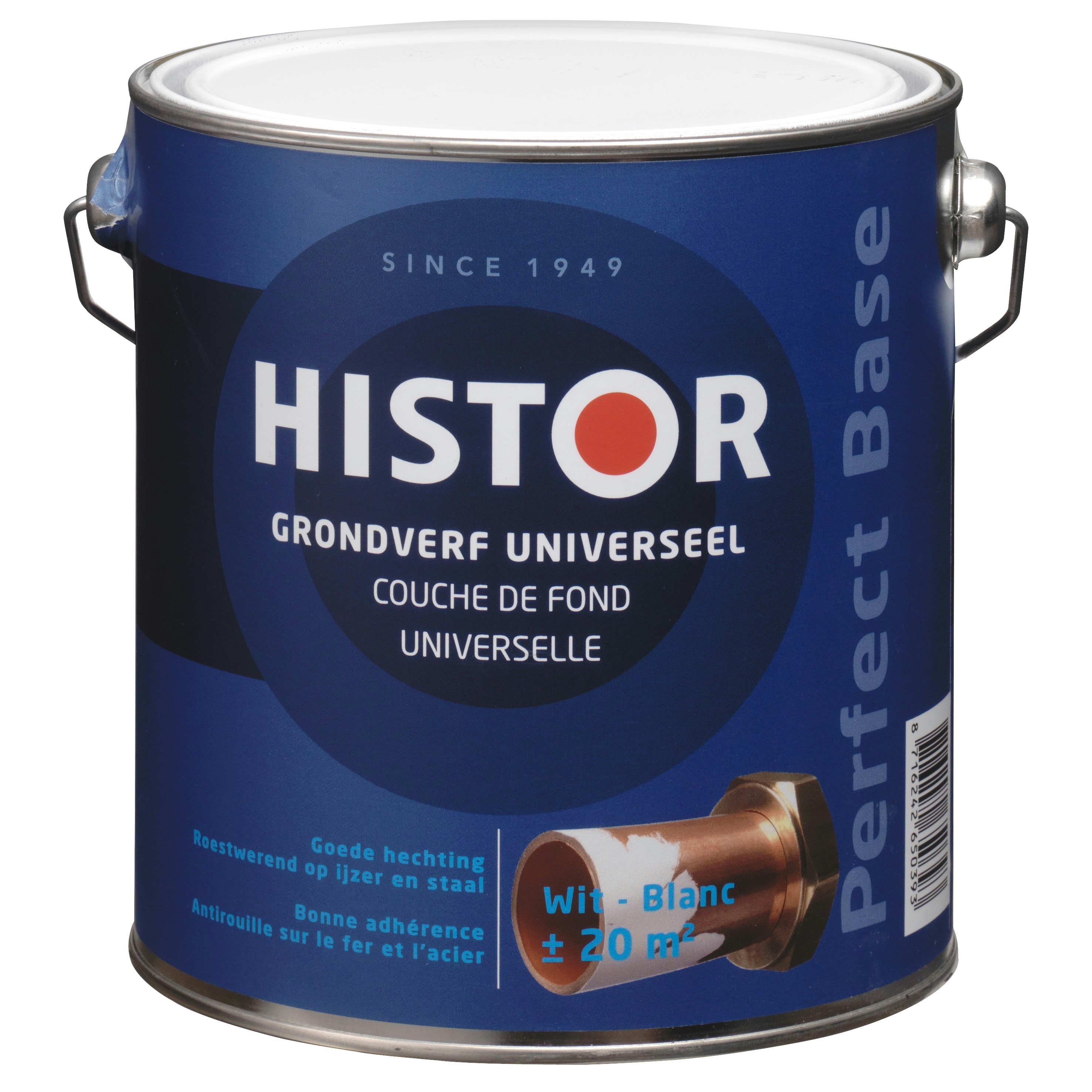 Histor perfect base grondverf universeel wit 2,5 l