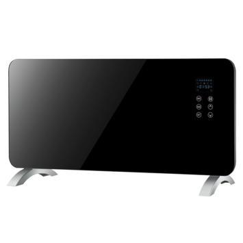 Panel Heater 1500 W Zwart Glas