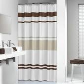 Sealskin douchegordijn Urban textiel bruin/beige 200x180 cm