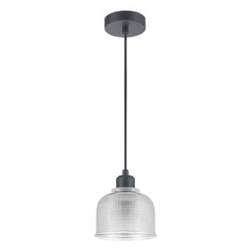 Hanglamp Yorrick glas/zwart