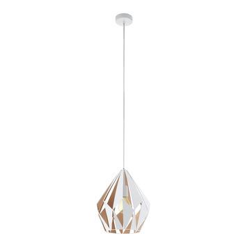 EGLO hanglamp Carlton wit/goud