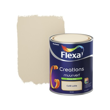 Flexa Creations muurverf cafe latte extra mat 1 liter