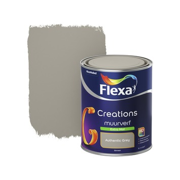 Flexa Creations muurverf authentic grey extra mat 1 liter