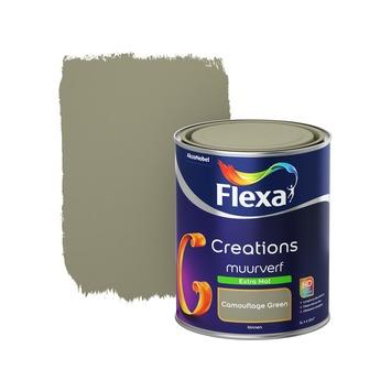 Flexa Creations muurverf camouflage green extra mat 1 liter
