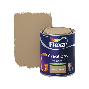 Flexa Creations muurverf bakery brown extra mat 1 liter