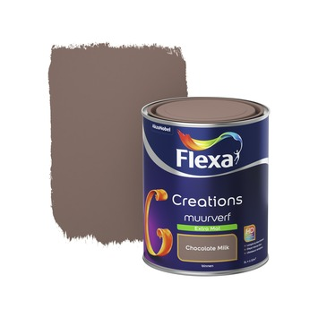 Flexa Creations muurverf chocolate milk extra mat 1 liter