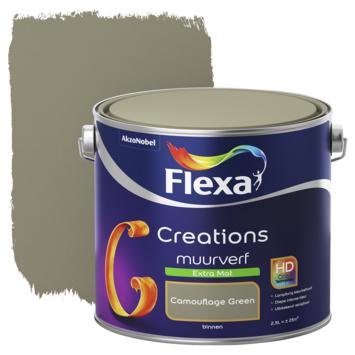 Flexa Creations muurverf camouflage green extra mat 2,5 liter