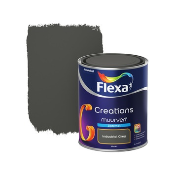 Flexa Creations muurverf industrial grey zijdemat 1 liter
