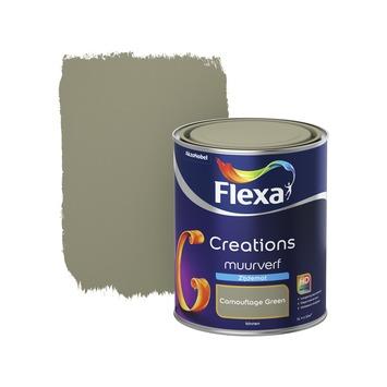 Flexa Creations muurverf camouflage green zijdemat 1 liter