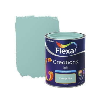 Flexa Creations lak vintage blue zijdeglans 750 ml