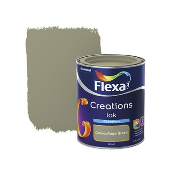 Flexa Creations lak camouflage green zijdeglans 750 ml
