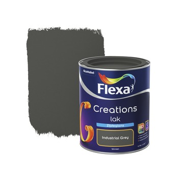 Flexa Creations lak industrial grey zijdeglans 750 ml