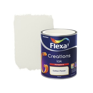 Flexa Creations lak cotton flower hoogglans 750 ml