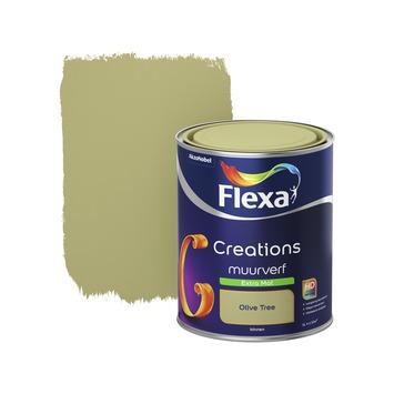 Flexa Creations muurverf olive tree extra mat 1 liter