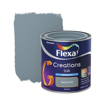 Flexa Creations binnenlak denim drift zijdeglans 250 ml