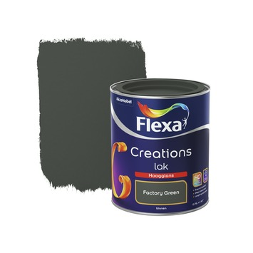 Flexa Creations binnenlak factory green hoogglans 750 ml