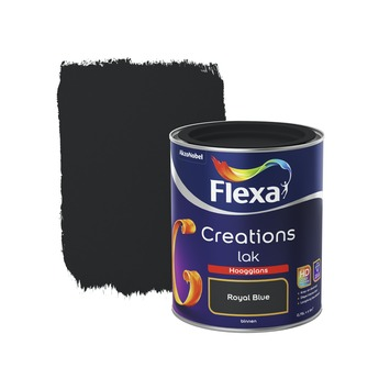 Flexa Creations binnenlak royal blue hoogglans 750 ml