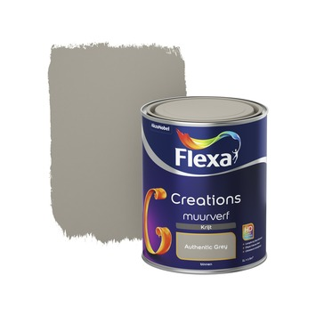 Flexa Creations muurverf authentic grey krijt 1 liter