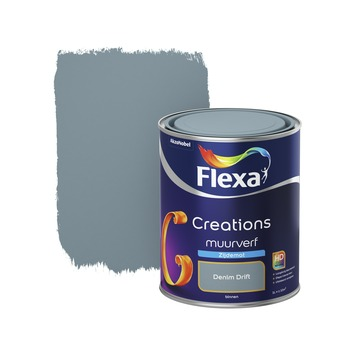 Flexa Creations muurverf denim drift zijdemat 1 liter