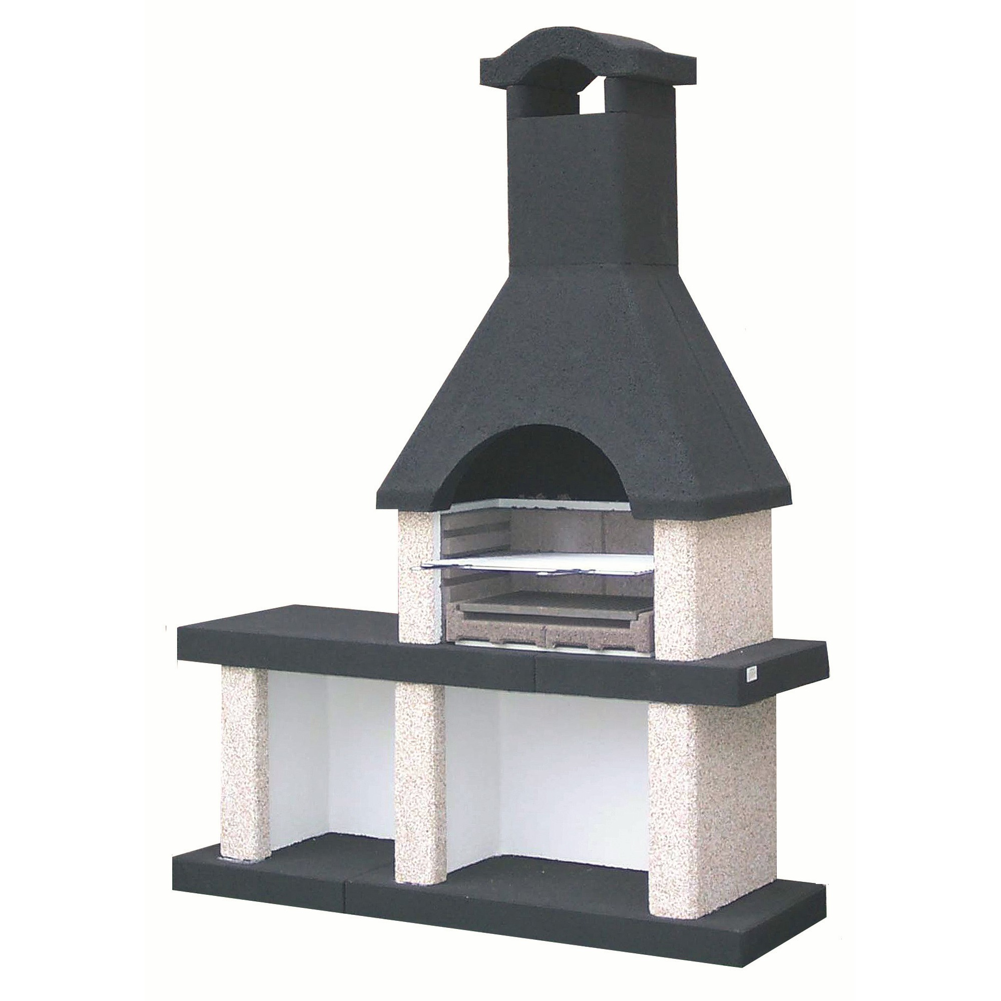 barbecue westerland beton 150x50 cm barbecues barbecue tuin gamma. Black Bedroom Furniture Sets. Home Design Ideas