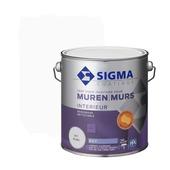 Sigma reinigbare muurverf wit 2,5 liter