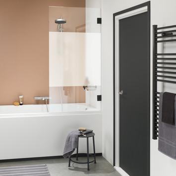 Get Wet Badwand I AM 85x160 cm Zwart met Gesatineerde Band