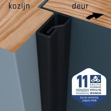 SecuStrip Plus Anti-Inbraakstrip Voordeur  RAL 7021 (Zwart Grijs) 205 cm