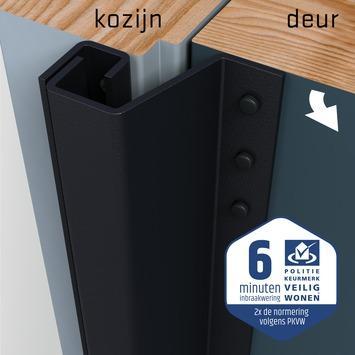 SecuStrip Plus Anti-Inbraakstrip buitendraaiend RAL 7021 Zwart Grijs terugligging 0-6 mm 211,5 cm