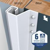 SecuStrip Plus Anti-Inbraakstrip Achterdeur RAL 9010 (Wit) terugligging 14-20 mm 211,5 cm