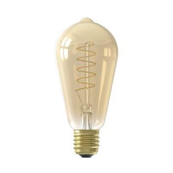 Calex LED filament ST64 E27 4 W 200 Lm dimbaar goud