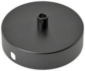 Calex plafondplaat metaal 100mm 1gat mat zwart