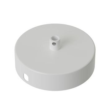 Calex plafondplaat metaal 100mm 1gat mat wit