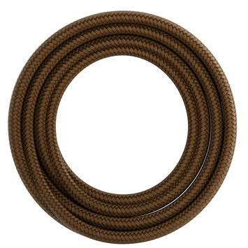 Calex kabel textiel 2x0,75mm2 1,5M metallic bruin