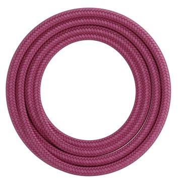 Calex kabel textiel 2x0,75mm2 1,5M roze