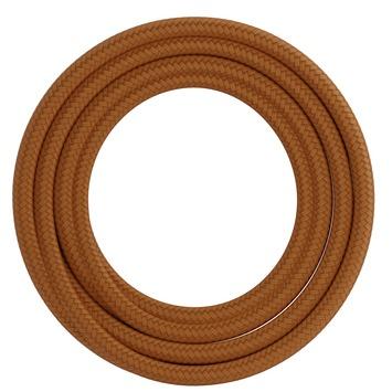 Calex kabel textiel 2x0,75mm2 1,5M oranje
