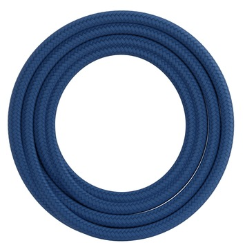 Calex kabel textiel 2x0,75mm2 1,5M blauw