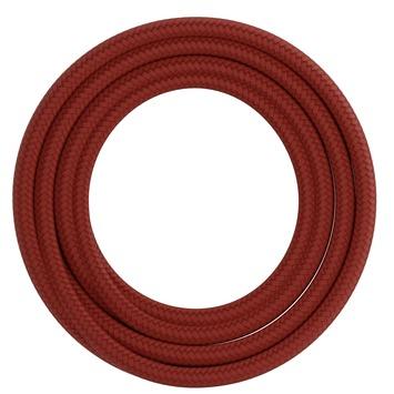 Calex kabel textiel 2x0,75mm2 1,5M rood