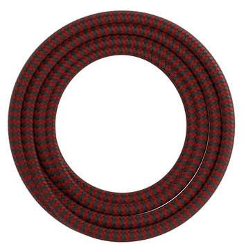 Calex kabel textiel 2x0,75mm2 1,5M rood/zwart