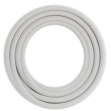 Calex kabel textiel 2x0,75mm2 3M wit