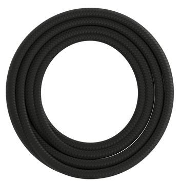 Calex kabel textiel 2x0,75mm2 3M zwart