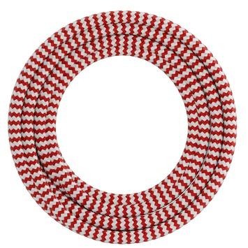 Calex kabel textiel 2x0,75mm2 3M rood/wit