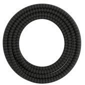 Calex kabel textiel 2x0,75mm2 3M zwart/grijs