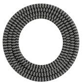 Calex kabel textiel 2x0,75mm2 3M zwart/wit
