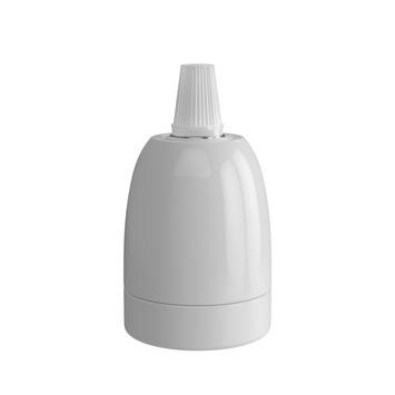 Calex E27 lamphouder keramiek wit