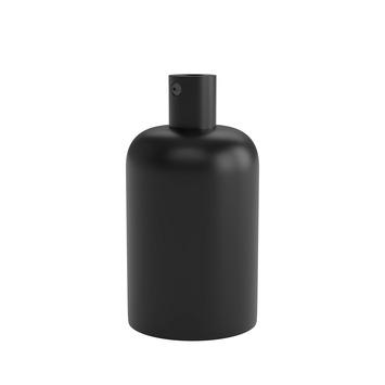 Calex E27 lamphouder aluminium 40mm mat zwart, aluminium kabelklem