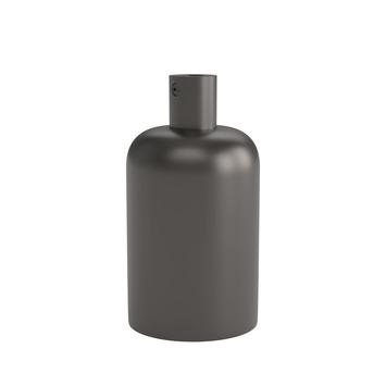 Calex E27 lamphouder aluminium 40mm mat parel zwart, aluminium kabelklem